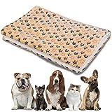 NALCY Coperte per Cani, Lettini per Animali, Tappetino Gatto, Pet Pad, Mini Tappeto per Cani, Gattino Letto per Dormire Stuoia Autunno Inverno Cuscino (S, 50 * 30 CM)