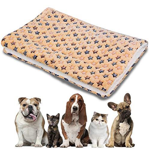Cojines para Mascotas, NALCY Manta de Mascotas, Almohadilla para Perro, Manta para Perros, Manta para Gato con de Estrella, Cómoda Almohadilla para Perros pequeños, Mascotas, Gatos (S, 50 * 30 CM)