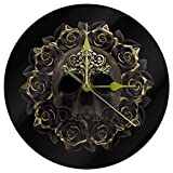 Wall Clock Simple Modern Design for Living Room Nordic Brief Wood Clocks White Wall Watch Home Decor Silent Gold Skull