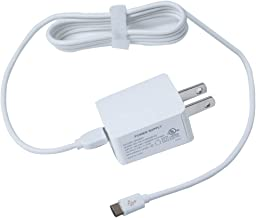 AC Charger Adapter for Amazon Kindle Paperwhite E-reader with 5ft Micro USB Cable(White)