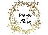 Inivitados de Boda: Libro de firmas para Boda mensajes y autografos de invitados a fiesta de boda 40 paginas a color 8.25 x 6 in