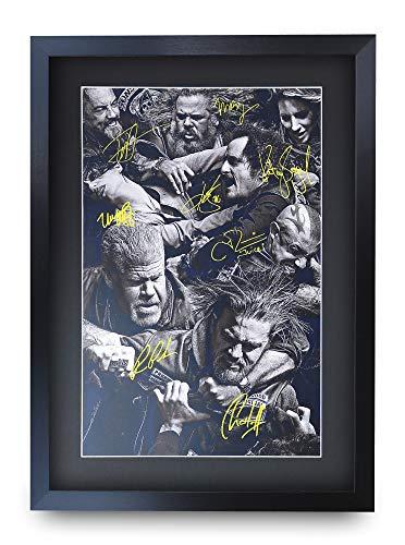 HWC Trading Sons of Anarchy A3 Gerahmte Signiert Gedruckt Autogramme Bild Druck-Fotoanzeige Geschenk Für Tv-Show-Fans