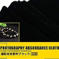 撮影用 背景布 布バック サテン 1.5×3m 光沢感を抑えたマットサテン布単色 ブラック (150CM X 300CM)