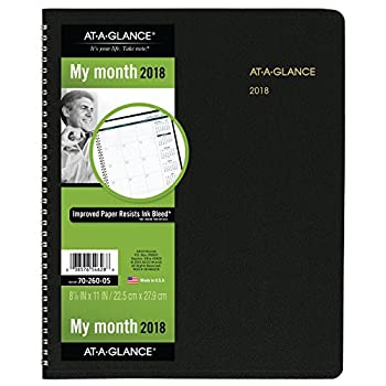 AT-A-GLANCE Monthly Planner January 2018 - March 2019 8-7/8  x 11  Black  7026005
