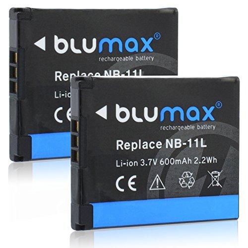 2x Blumax NB-11L Akku kompatibel mit Ixus 170 / Ixus 165 / Ixus 160 / SX410 / Ixus 275 / SX400 IS / SX410 IS / SX420 IS / A4000 / A3400 / A3500 / A2600 / A2400 / A2500 / A2300 / Ixus 265 / Ixus 145 / Ixus 150 / SX400 / Ixus 155 / Ixus 140 / Ixus 135 / Ixu