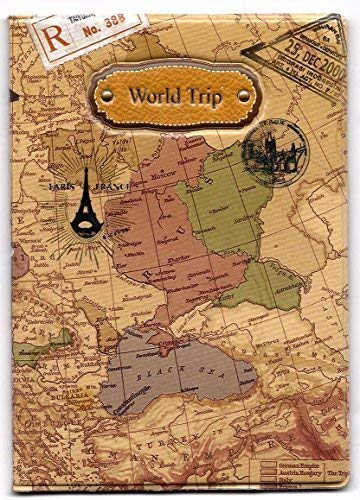 Skylly World Map 3D Passport Cover ~ NO more bent corners while Traveling ~ world...