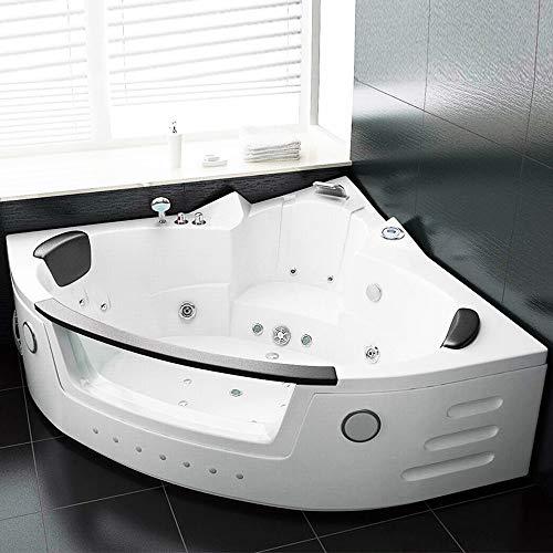 Oimex KOPENHAGEN Indoor Whirlpool Eckbadewanne Whirlwanne Badewanne 150x150cm Vollausstattung inklusive Schürze, Armaturen und Gestell