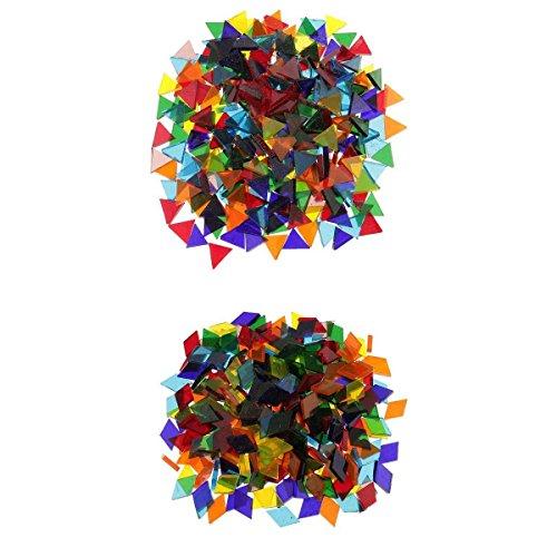 MagiDeal 500pcs Triangle + Rhombus Mosaïque à Coller de Couleur Assorti DIY Décoration Tasse Assiettes Cadre