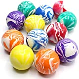 Kicko 2 Inch Marble Balls - 12 Pieces of Assorted 2 Tone Colors - for Vase, Landscapes, Collection, Stress Reliever, Novelties, Party Favors