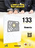 TopFilter 133, 4 sacs aspirateur pour Rowenta  boîte de sacs d'aspiration en non-tissé, 4 sacs à poussière (30 x 26 x 0,1 cm)