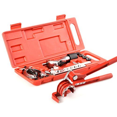 Ncient 3 in1 Bördelgerät Bremsleitung Bördelwerkzeug mit Rohrbiegezangen Bördel Werkzeug Set