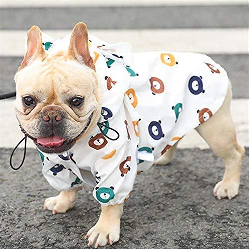 Haustier Hund Regenmantel Mops Französisch Bulldogge Kleidung wasserdichte Kleidung Für Hund Regenjacke Pudel Bichon Schnauzer Regenmantel-S.