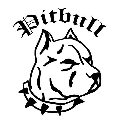 PITBULL Heckscheiben Aufkleber Sticker Carstyling Homestyling Kult Motiv Pitbull 2 (ca. 30x30 cm)