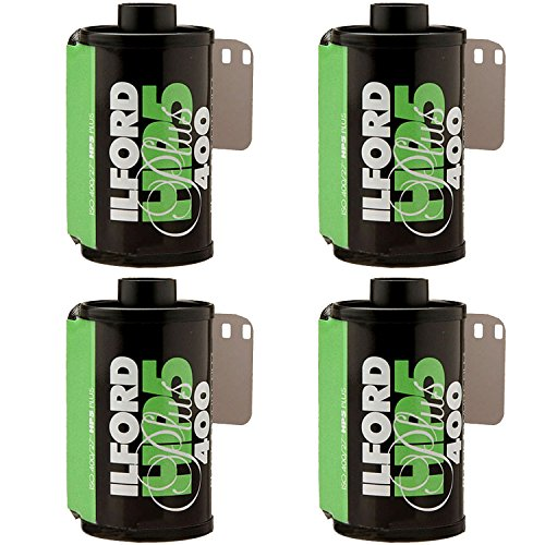 4 X Ilford HP5 Plus, Black and White Print Film, 135 (35 mm), ISO 400, 24 Exposures (1700646)