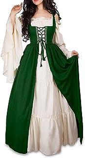 Guiran Womens Retro Renaissance Medieval Costume Dresses Fancy Evening Dress