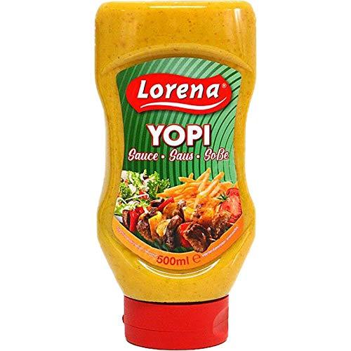 Lorena - Yopi Sauce Soße 500ml   Joppiesaus Joppie Cocktailsoße perfekt für Pommes Frites