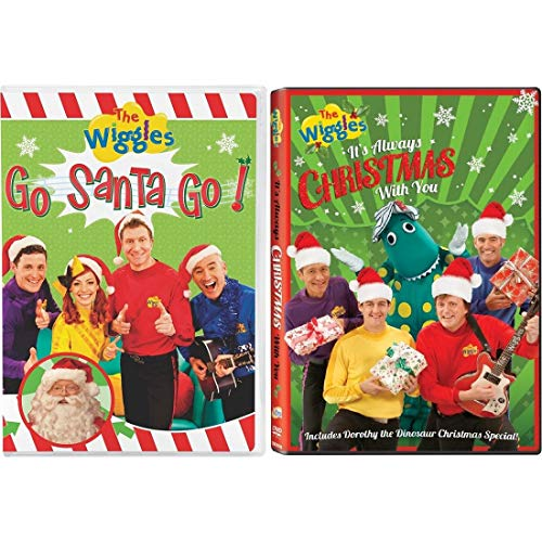 Wiggles 2 Pack DVD Set: Go Santa Go / It's Always Christmas With You