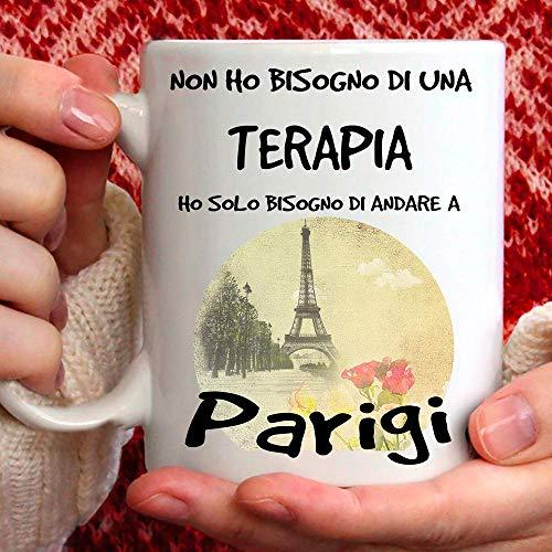 Taza París. Ideal para desayuno, té, tisana, café, capuchino. Gadget Taza: Ho Solo tienes que ir a París. Idea de regalo original