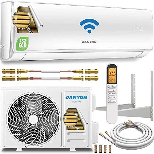 Danyon Split-Klimaanlage Quick-Connect – für 55 qm, 12000 BTU, 3,4 kW, bis 130m3, Titangold, Smart Home, W-LAN, Alexa, Google Home, Timer, leise, nur 50 dB, Klimaanlage Splitgerät, EEK A++