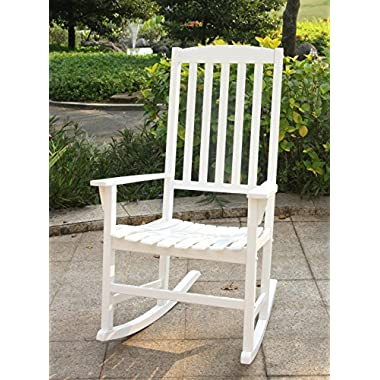Cambridge-Casual AMZ-130818W Bentley Porch Rocker, White