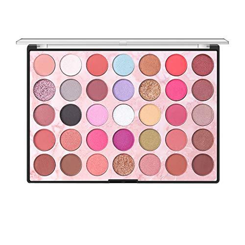 OHQ 35 Farben Kosmetische Matte Lidschatten Creme Make-up Palette Warm Eyeshadows Palette Glazed...