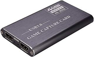 HUIFANGBU NK-S41 USB 3.0 to HDMI 4K HD Video Capture Card Device (Black)(Grey)(Blue) (Color : Grey)