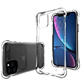 Luvvitt Clear Grip Case Designed for iPhone 11 Pro with Shockproof Drop Protection Slim Hybrid TPU Gel Bumper Scratch Resistant Silicone Cover for Apple iPhone XI 11 Pro 5.8 inch 2019 - Crystal Clear