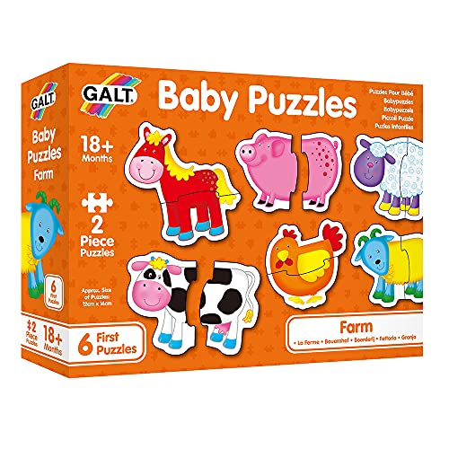 Galt Toys, Baby Puzzles - Farm, Jigsaw Puzzles for Kids, Ages 18 Months...