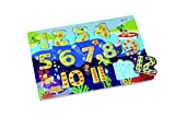 Classic World Puzzle de 123 números, puzzle, puzzle, juego educativo, de madera, matemáticas