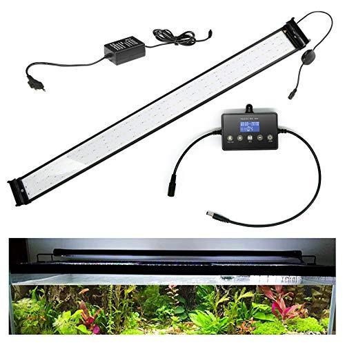 wolketon 38W LED Aquarium Beleuchtung Universal mit LED Aquarium Timer, Aquarium Lampe LED Pflanze mit LED Lichtmodulator,für Reef Coral Fish Wasserpflanzen Aufsetzleuchte