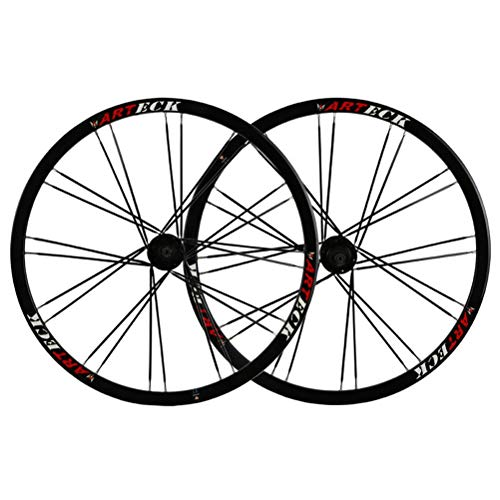 26inch Aluminiumlegierung MTB Radfahren Räder Leichtmetall-Doppelwandfelge Scheibenbremse Schnelle Veröffentlichung Abgedichtete Lager 7-10 Geschwindigkeit (Color : Black)