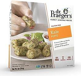 Dr. Praeger's, Gluten Free Kale Veggie Puffs (Frozen), 9 Ounce (Pack of 6)