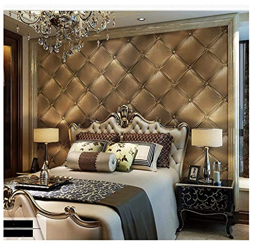 Blooming Wall 3D Faux Leather Textured Backgound Wall Pattern Wallpaper Roll for Livingroom Bedroom, 20.8 In32.8 Ft=57 Sq.ft 98601