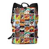 Homebe Sac à Dos,Sac d'école,Cartable, Rolling Paint It Black Stones School College Bookbag for Girls Boys Fashion Travel Back Pack