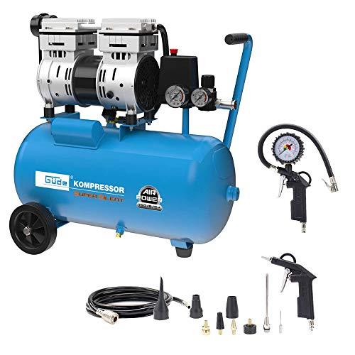 Güde Kompressor Airpower 150/8/24 Silent 8 bar 150 l/min + Druckluftset 12-tlg.