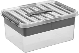 Sunware Q-Line Boîte de Rangement métallique Transparent 15 l