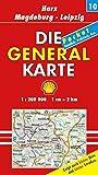 Die Generalkarte Deutschland Pocket. 1:200000: Die Generalkarten Deutschland Pocket, 20 Bl., Bl.10, Harz, Magdeburg, Leipzig - Mair Generalkarten Pocket
