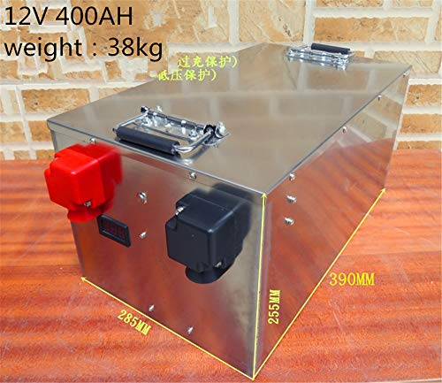 Preisvergleich Produktbild Lifepo4 100ah 200ah 300ah 400ah 500ah 12V Lithium-Ionen-Akku für Solarsystem / Motor Home / Boot / Golf Carts Autobatterie (12V 400ah ×1set with Quick charger)
