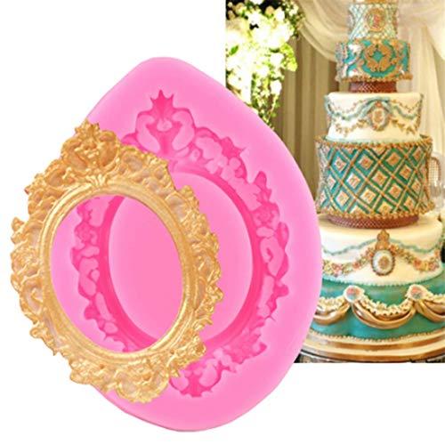 Yingwei Rahmen Silikon Form Fondant Sugarcraft Kuchen dekorieren Tools Schokolade Candy Form