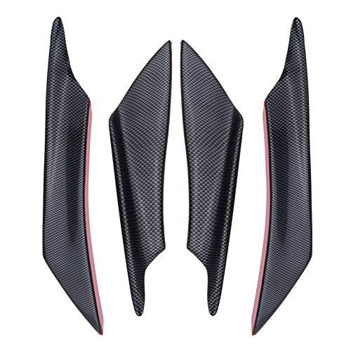 Spenyf-spoiler Cuchilla de aire 4pcs / Set del coche universal delantero parachoques lateral de las aletas del viento ala de la paleta Spoiler Spoiler Fibra de Carbono