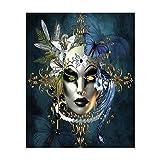Giow Pintura Diamante Bricolaje, máscara Fantasma, Punto de Cruz de Yeso, Pintura al óleo de la decoración de la Sala de Estar, Mural, como se Muestra, 30 * 40
