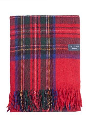 The Tartan Blanket Co. Recycelte Wolldecke Schottenmuster - Stewart Royal (150cm x 190cm)