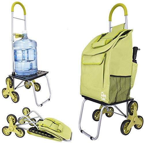 dbest products Stair Climber Bigger Trolley Dolly Shopping cart, Golden Lime