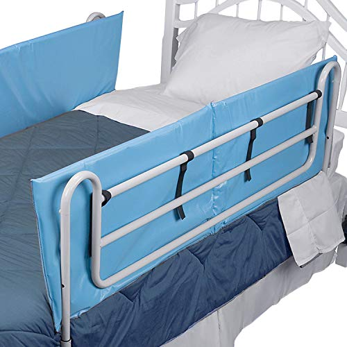 DMI Bed Rail Bumper Pad Cover 60 x 15 x 0.5, 1 pack of 2 Covers, Rails not included, Blue