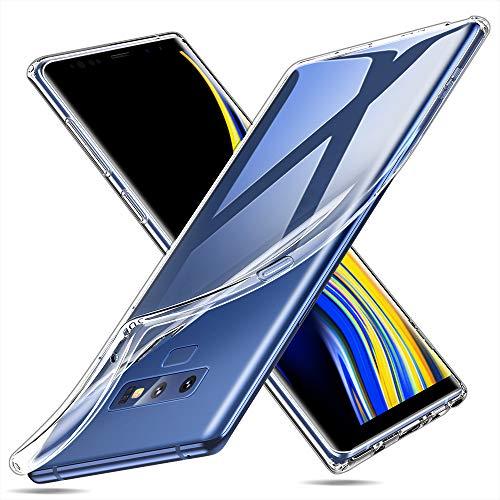 ESR Klare Silikonhülle kompatibel mit Samsung Galaxy Note 9 - Schutzhülle mit dünnem klarem weichem TPU - Flexibles Case mit stoßabsorbierenden Schutzecken & Mikrodotmuster - Klar
