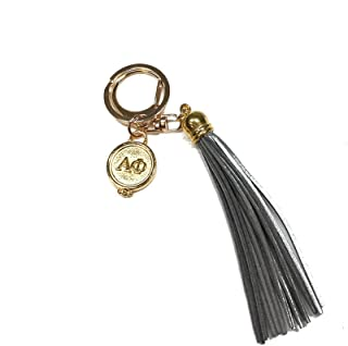 Alpha Phi Sorority Fringe Tassel Keychain with Letters Key Attachment A Phi