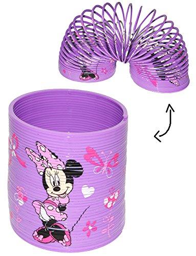 alles-meine.de GmbH Spirale / Treppenläufer -  Disney Minnie Mouse & Daisy  - Springspirale für Treppen / Motorik Spiel - Zauberspirale Sprungfedern - Springspirale - rosa / fü..