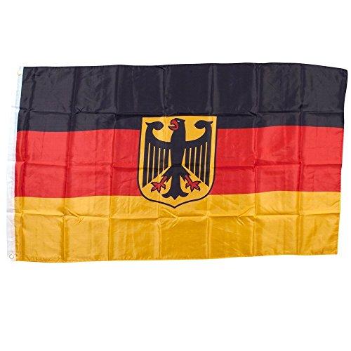 Grand Drapeau Allemagne avec aigle noir Noir taille unique