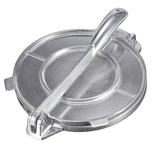 6.5 Zoll Tortilla Press Maker, Antihaft Gadgets DIY Backgeschirr mit faltbarem, stabilem Griff für hausgemachtes Tortillas oder Tacos-Kuchenfrühstück (Silber)