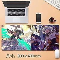 アニメHonkaiインパクト3マウスゲーミングマウスマットパッドカスタムプロフェッショナルマウスパッド、ステッチエッジ、デスクカバーに最適で、コンピュータのキーボード、PCおよびラップトップ90 * 40センチメートル (サイズ: 3mm)